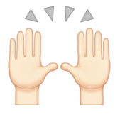 praise hands emoji