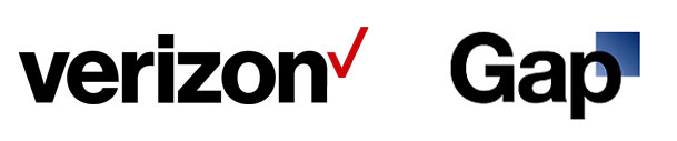verizon logo gap logo