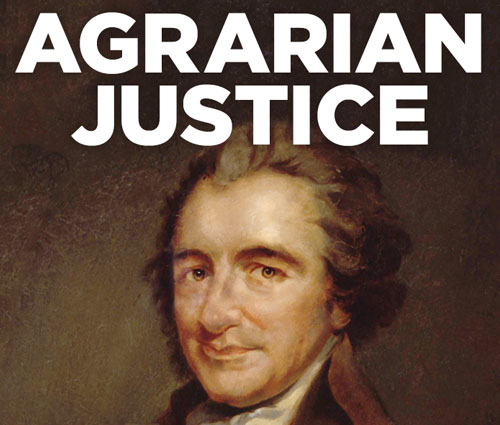 'Agrarian Justice' Book Jacket